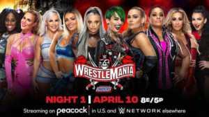 Carmella y Billie Kay en WrestleMania 37