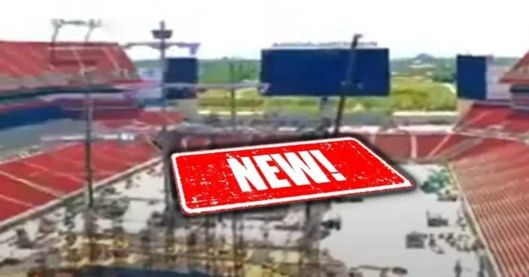 Nuevas imagenes de la construcción del escenario de WrestleMania 37