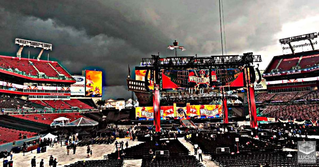 El estadio de WrestleMania 37 es evacuado debido al mal clima