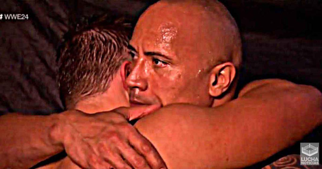 Estoy muy orgulloso de ti Momento emotivo de The Rock con The Miz trás luchar lesionado