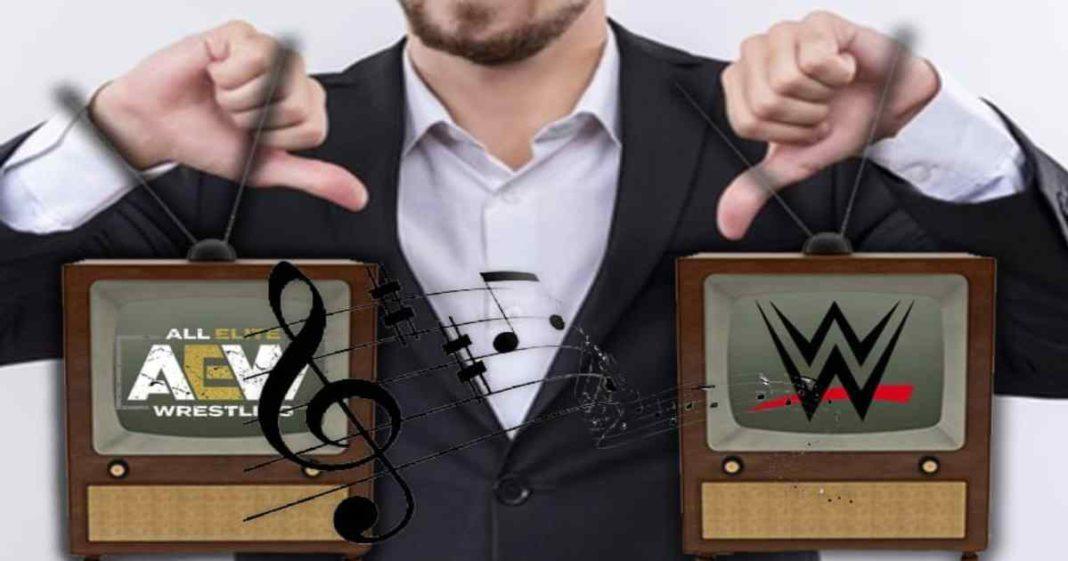 Las canciones de entrada de WWE y AEW son consideradas como mediocres