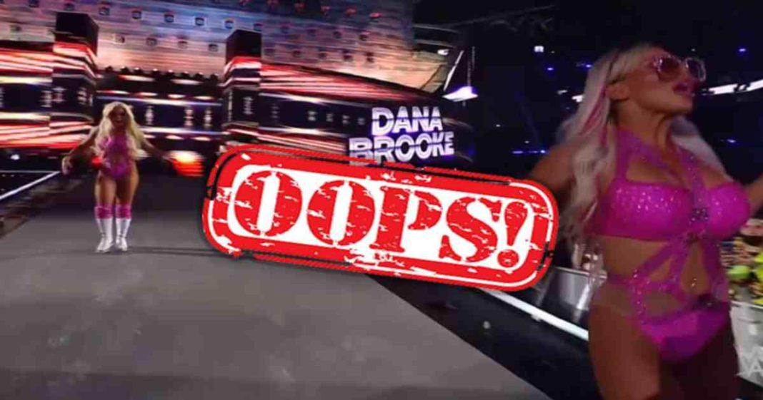 Mandy Rose se cayo durante su entrada en WrestleMania 37