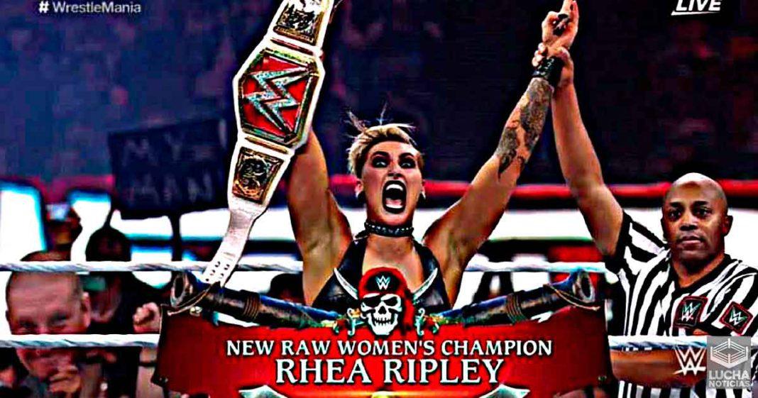 Rhea Ripley vence a Asuka en WrestleMania y se corona campeona femenil de RAW
