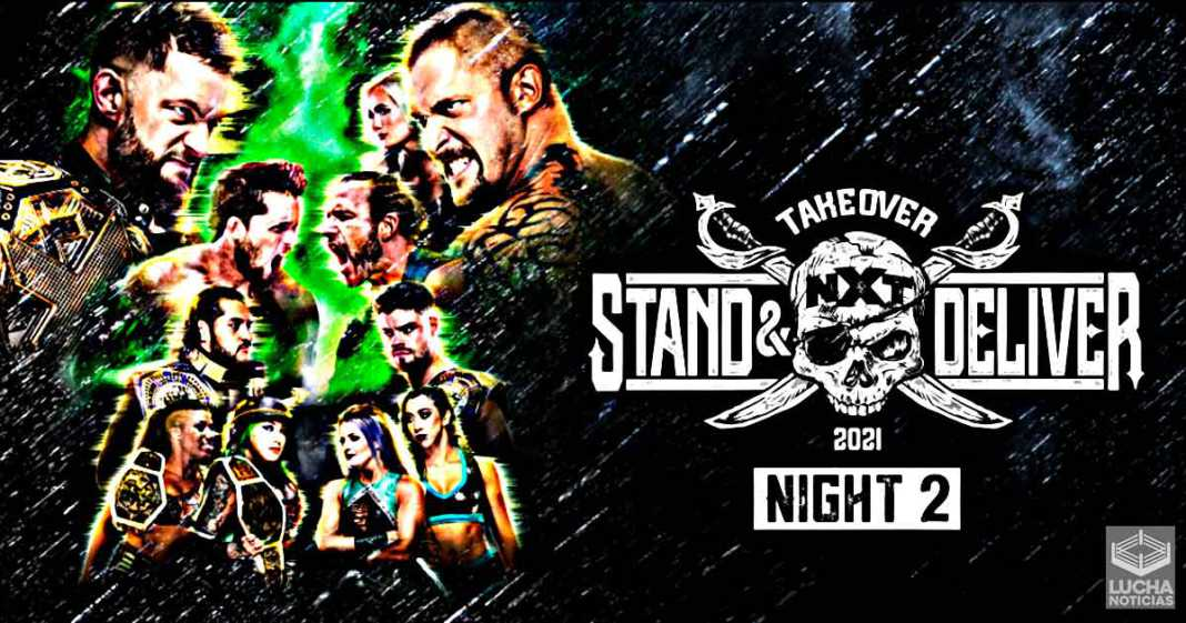 WWE NXT TakeOver: Stand and Deliver Noche 2 resultados