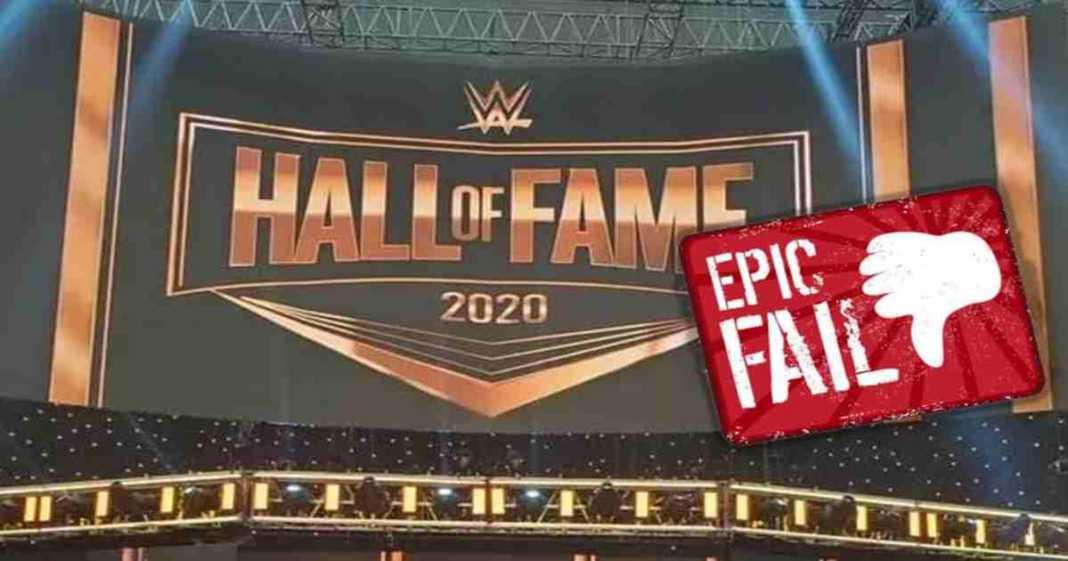 WWE comete epico fallo en la ceremonia del WWE Hall Of Fame