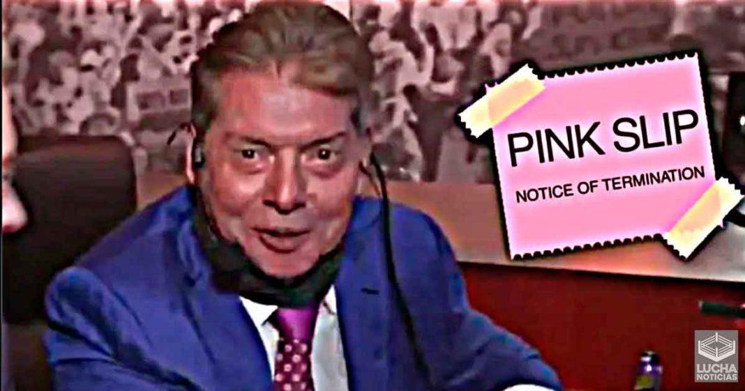 WWE despide a vice presidente de la compañía