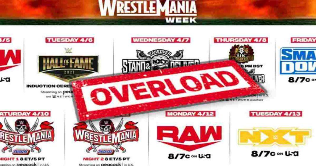 WWE es acusada de quemar a los fans tras una saturación de eventos en WrestleMania 37