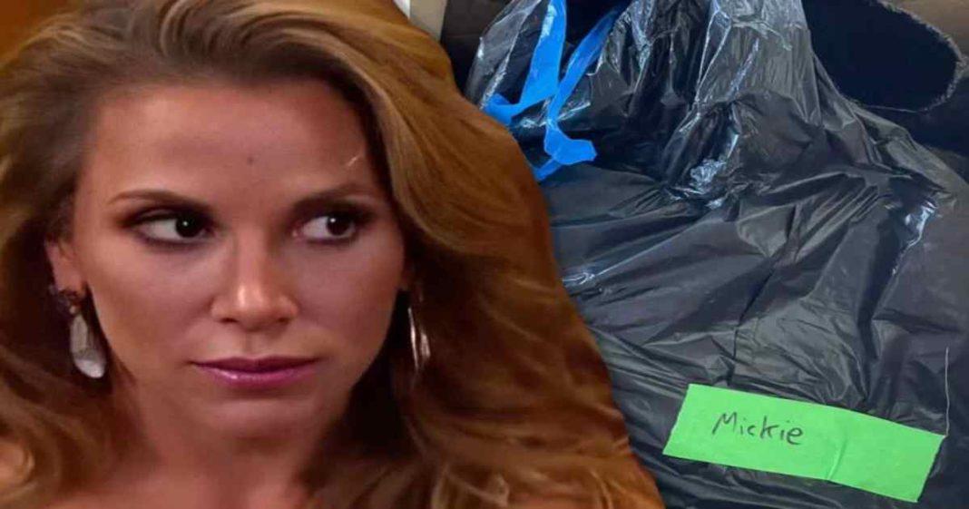 WWE le envia a Mickie James una bolsa de basura como