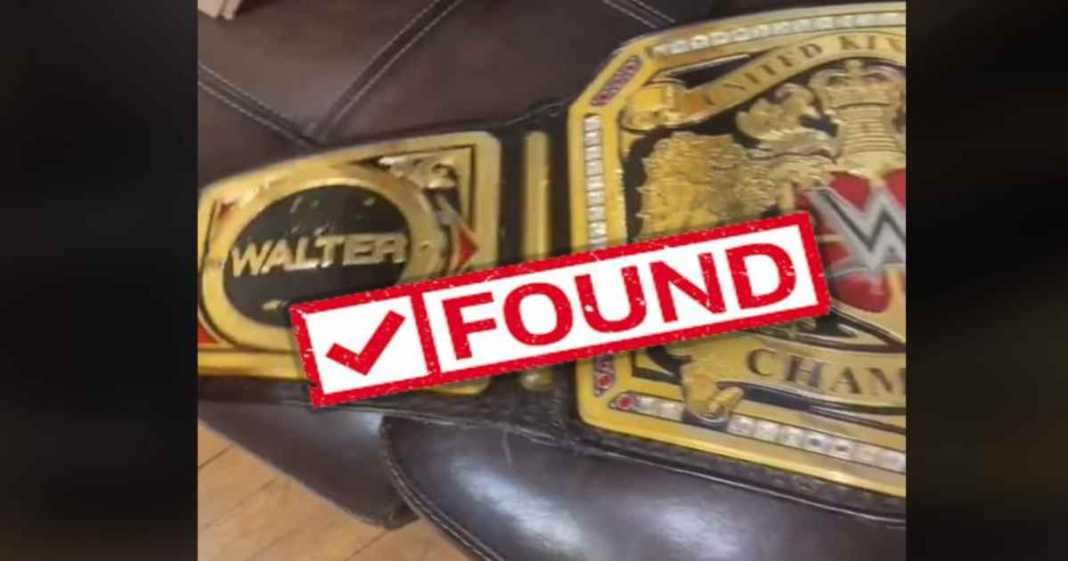 titulo perdido de WALTER es encontrado y devuelto a WWE