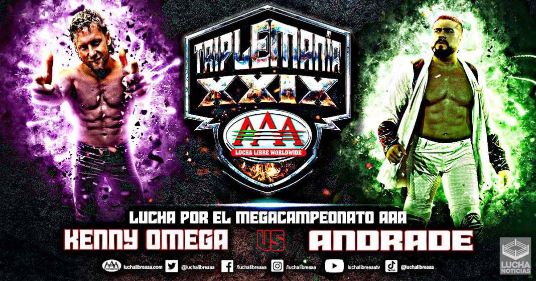 Andrade vs Kenny Omega en TripleMania XXIX por el Megacampeonato AAA