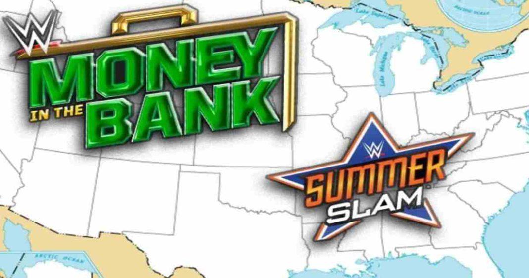 Las posibles sedes de Money In The Bank y SummerSlam serían en Texas y Nevada