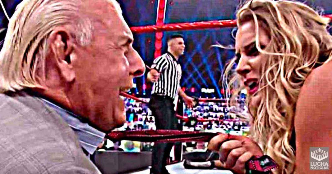 Ric Flair no estaba cómodo con la historia de Lacey Evans