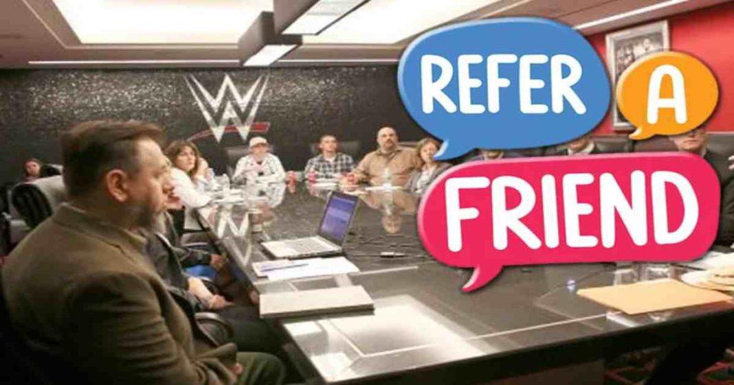 WWE había utilizado un programa de referencia para contratar gente antes de los recientes recortes