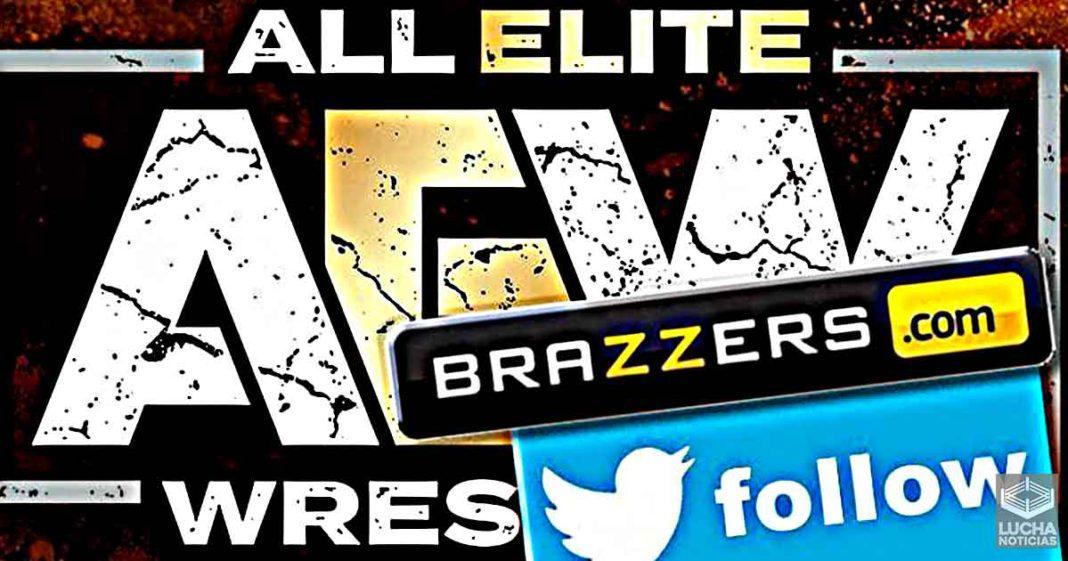 AEW es señalada por seguir a la cuenta oficial de Brazzers