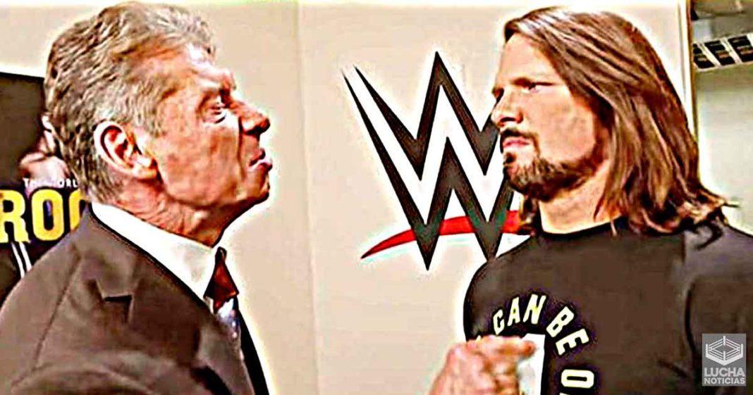 AJ Styles revela que lo que Vince McMahon le dijo después de su primera lucha en WWE