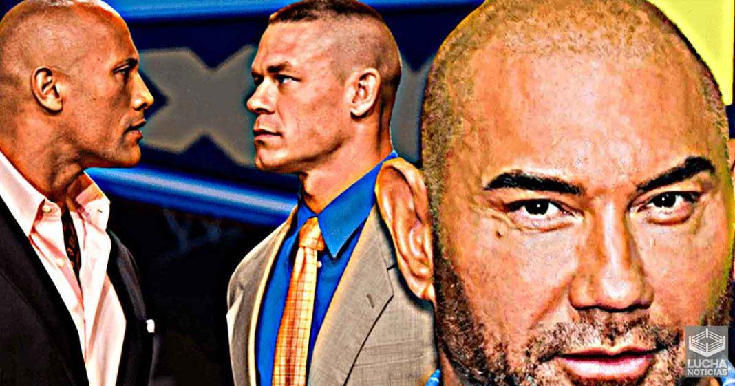 Batista no está interesado en hacer una pelicula con The Rock y John Cena