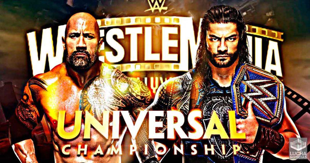 Cronología de Noticias Roman Reigns vs The Rock en WWE WrestleMania