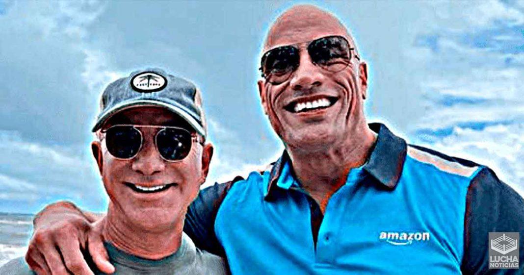 The Rock tiene grandes planes con Jeff Bezos dueño de Amazon