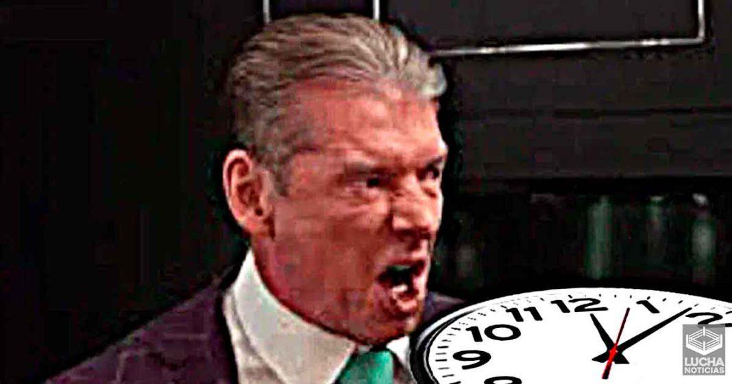 Vince McMahon molesto por qué los segmentos de RAW son muy largos