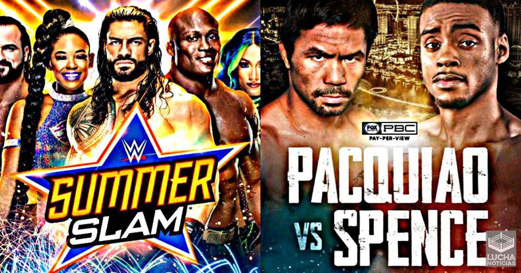 WWE SummerSlam será un evento mas corto por la pelea de Manny Pacquiao