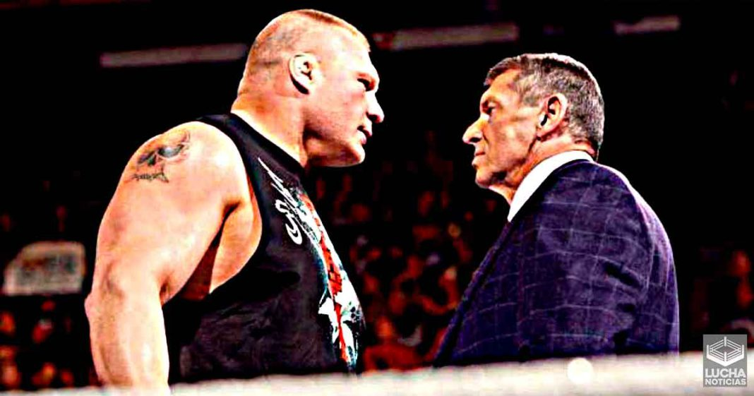 Brock Lesnar está molesto con Vince McMahon y por eso no regresa