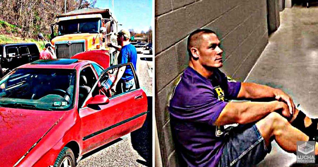 ¿Cuándo ocurrió el accidente automovilístico de John Cena?