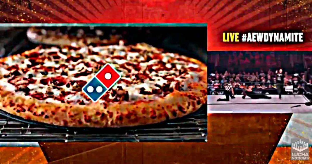 Dominos se molesta Jericho y Cage por usar un cortador de pizza en AEW Dynamite