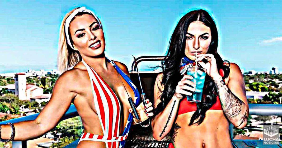 Mandy Rose y Sonya Deville celebran el 4 de julio en bañador
