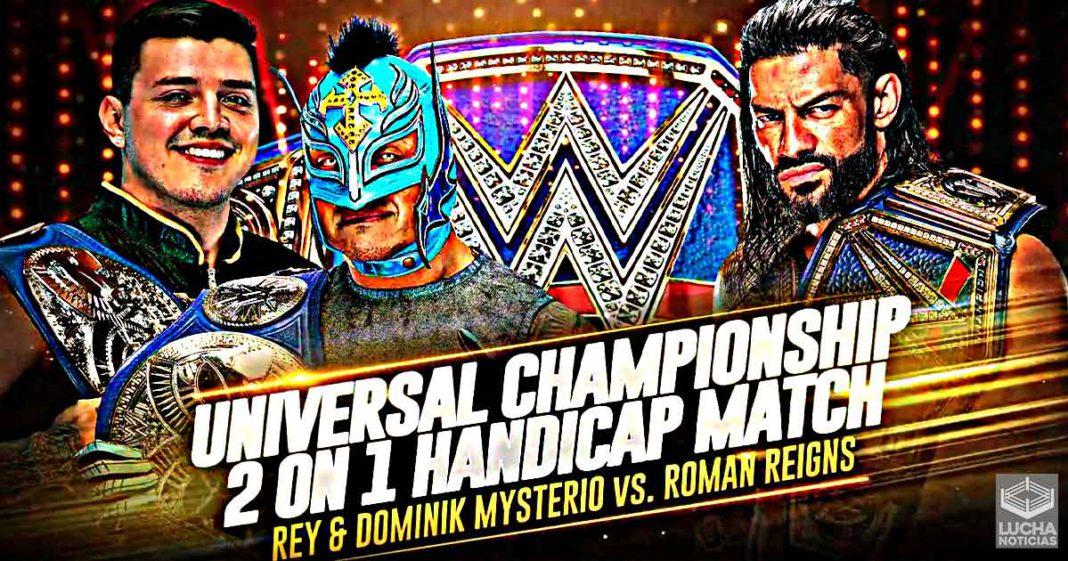 Roman Reigns luchará en desventaja contra Rey y Dominik Mysterio