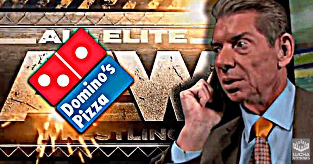 WWE acusada de inventar la historia de que Dominos Pizza se molestó con AEW