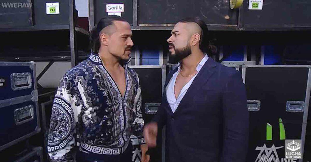 Andrade y Angel Garza con fuerte intercambio de palabras