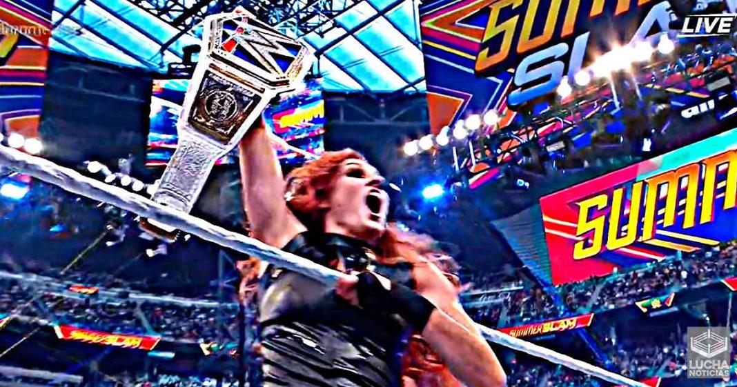 Becky Lynch regresa en SummerSlam y es la nueva campeona femenil de SmackDown
