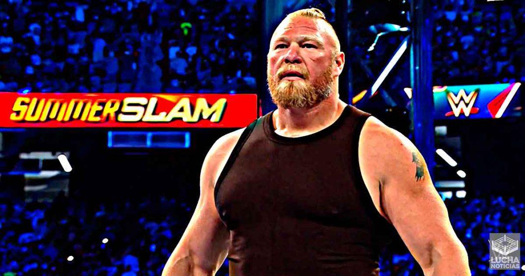 Brock Lesnar regresa y enfrenta cara a cara a Roman Reigns en SummerSlam