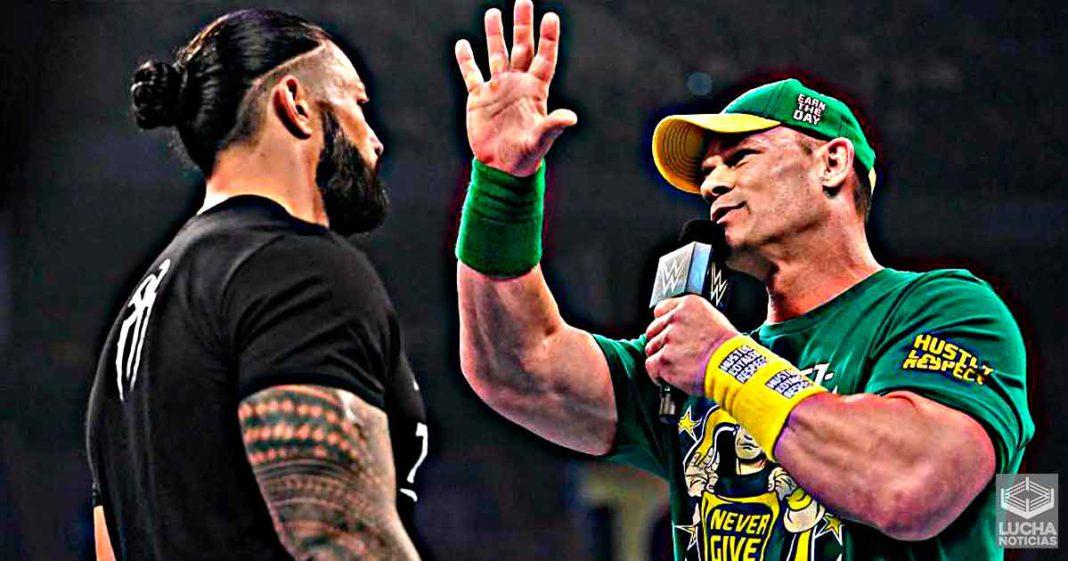 El segmento de Roman Reigns y John Cena fue sin guión