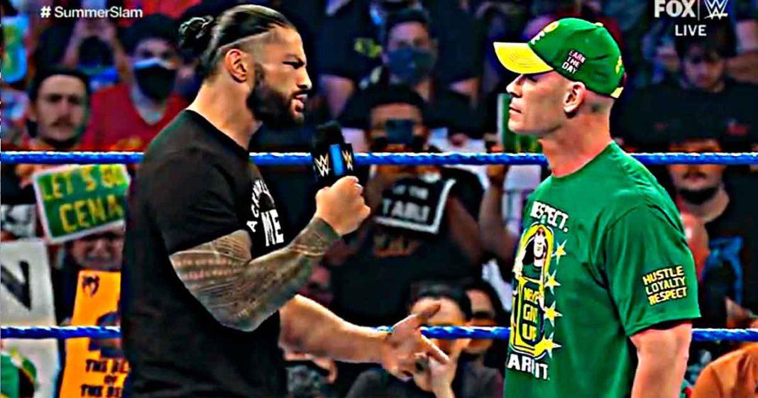 Roman Reigns abandonará WWE si no le gana a John Cena en SummerSlam