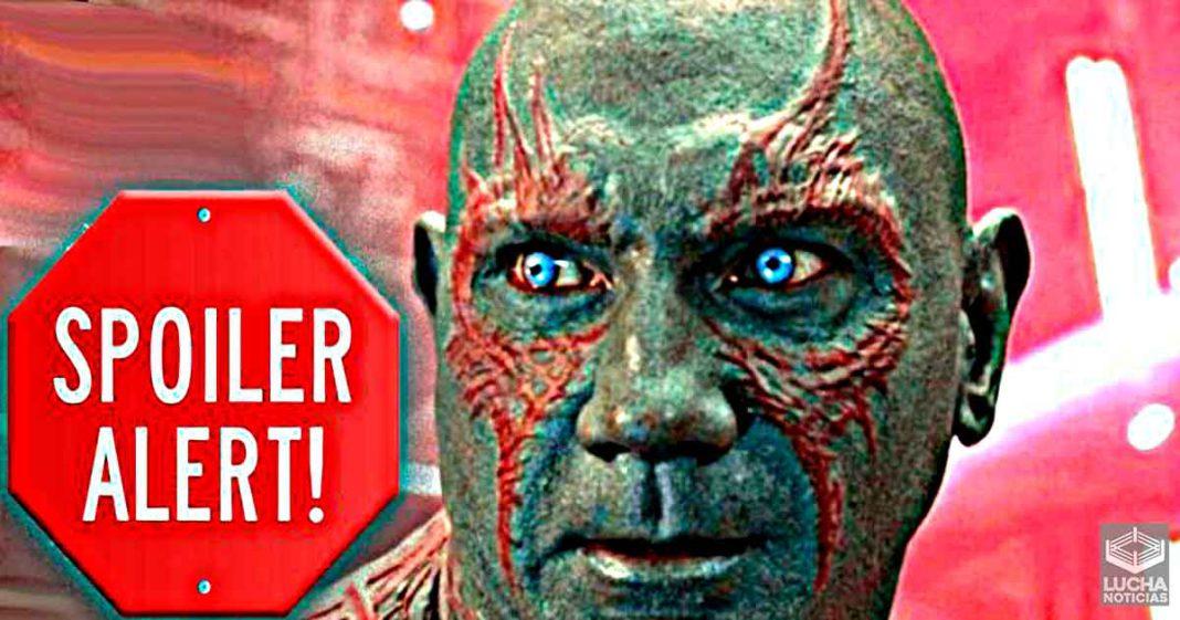 Batista spoilea el final de Guardians Of The Galaxy 3
